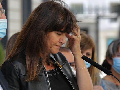 Laura Borràs, diputada de Junts per Catalunya, este 25 de junio, cuando el Congreso aprobó la retirada de su aforamiento para poder ser investigada por el Supremo.