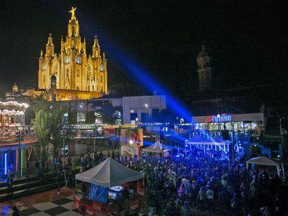 Imagen de anoche del Tibidabo Live Festival