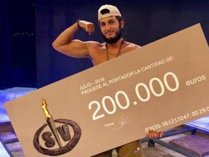 El cantante Omar Montes, ganador de 'Supervivientes'.