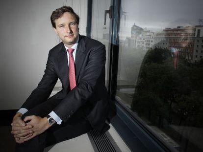 Frederic Rochat, socio de Lombard Odier, en la sede del banco en Madrid