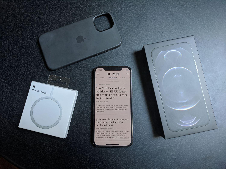 Contenido de la caja del iPhone 12