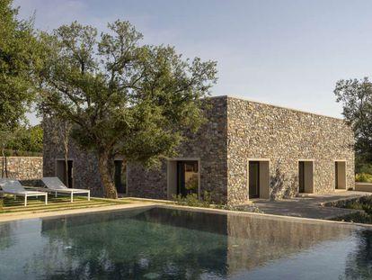 Vista de la vivienda diseñada por Emilio Tuñón en Cáceres.