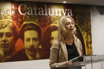 Neus Munté, este miércoles en Madrid.