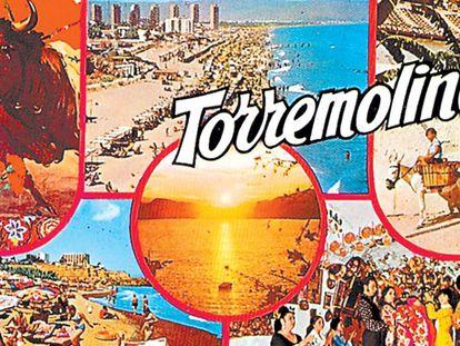 Postal de Torremolinos de los años 60.