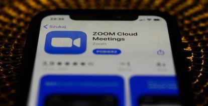 Aplicación de Zoom.