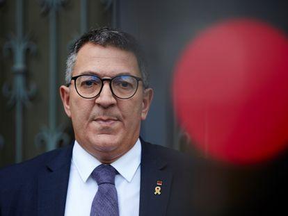 El consejero de Interior, Miquel Sàmper, el pasado jueves en Barcelona