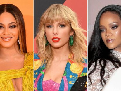 Beyoncé, Taylor Swift y Rihanna.
