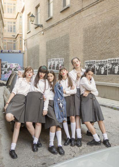 Las protagonistas de 'Las Niñas', de Pilar Palomero, que transcurre en un colegio de Zaragoza en 1992.