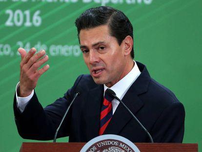 Peña Nieto en un acto oficial en Ciudad de México.