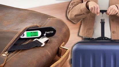 Con esta báscula para maletas se pueden evitar sustos por exceso de peso antes de embarcar en el avión.