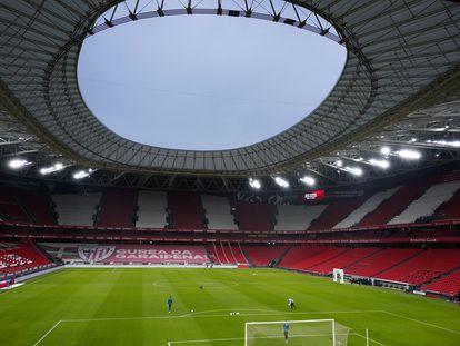 El estadio San Mamés en Bilbao.