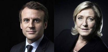 Emmanuel Macron y Marine Le Pen, candidatos a la presidencia francesa