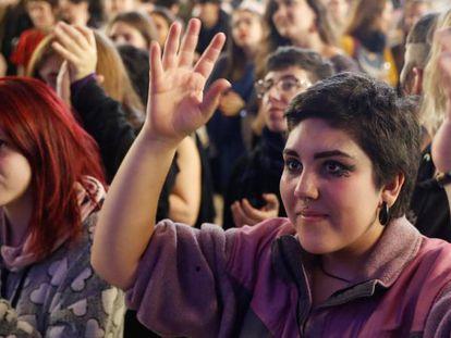 'Eventazo' en el Matadero de Madrid para calentar la huelga del 8-M.