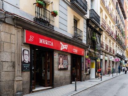 Una tienda de discos en La Latina (Madrid).