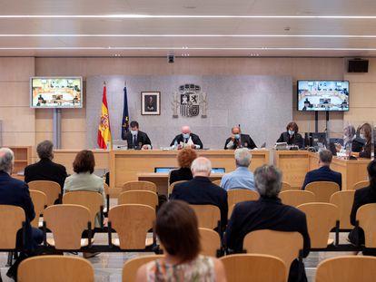 Juicio en la Audiencia Nacional en San Fernando de Henares contra el expresidente del Consejo de Direccion de la SGAE, Teddy Bautista en septiembre de 2020.