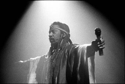 Bunny Wailer, en Brixton, Londres, en junio de 1990.