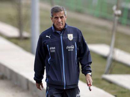 El entrenador de la selección uruguaya, Óscar Tabárez.