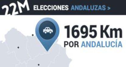 Un equipo de EL PAÍS TV recorre las provincias andaluzas para reflejar ocho escenarios de la comunidad que vota el 22-M