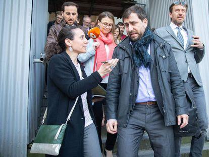 El exconseller Toni Comín en Bruselas.