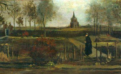 'Spring Garden, Nuenen Parish House in Spring' (1884), Van Gogh's painting stolen from the Singer museum in the Netherlands.