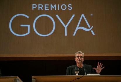 Mariano Barroso, durante la presentación de la gala Goya.