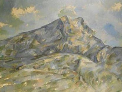 'La Montagne Sainte-Victoire du bosquet du Château Noir' (1904), de Cézanne.