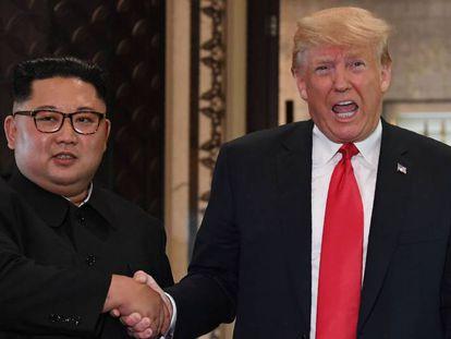 Donald Trump y Kim Jong-un, durante su encuentro en junio de 2018 en Singapur.