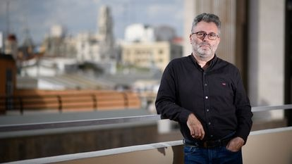 Eduardo Guillot, en la sede de la SER y de EL PAÍS en Valencia este lunes.