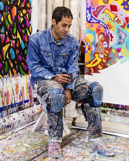 El artista JonOne en su estudio.