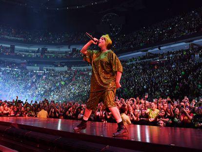 Billie Eilish durante un concierto en Miami, en marzo de 2020.