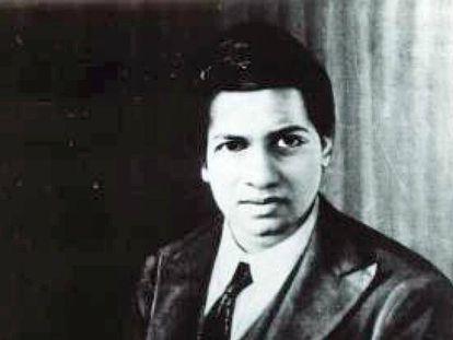 El matemático indio Srinivasa Ramanujan.