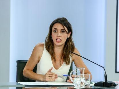 Irene Montero comparece tras la aprobación del anteproyecto de ley para la igualdad real y efectiva de las personas trans y para la garantía de los derechos de las personas LGTBI.