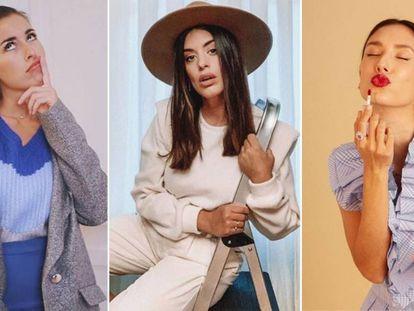 Paula Gonu, Dulceida y Gracy Villarreal, en imágenes de sus cuentas de Instagram.