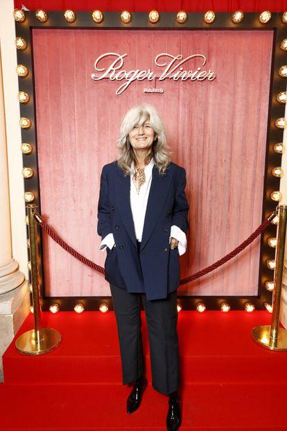 La periodista Sophie Fontanel en la semana de la moda de París, en septiembre de 2020.