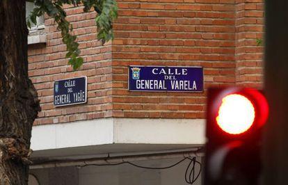 Confluencia de las calles del general Yagüe y del general Varela, en el distrito de Tetuán, en Madrid.