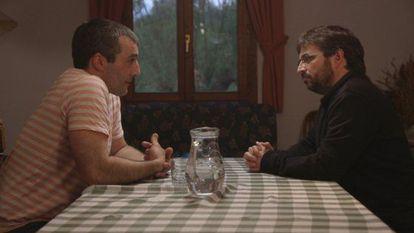 Iñaki Rekarte y Jordi Évole, durante la entrevista de 'Salvados'.