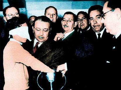 Franco Gemma, en el sorteo que dejó a España fuera de Suiza 54.