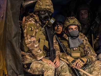 Un grupo de soldados del ejército libanés.