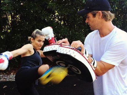 Elsa Pataky y su marido, Chris Hemsworth.