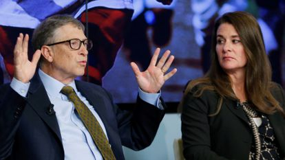 Bill y Melinda Gates en un encuentro en Bruselas en enero de 2015.