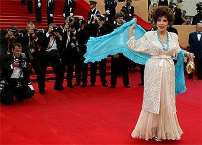 La italiana Gina Lollobrigida, en Cannes.