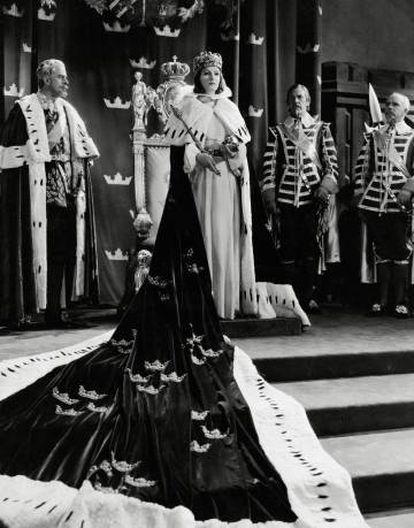 Greta Garbo protagonizando 'La reina Cristina de Suecia'.