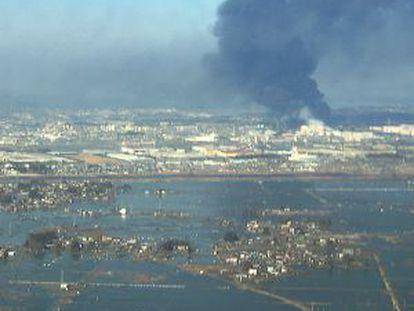 Vista aérea de los daños causados en Sendai tras el maremoto que sacudió Japón en 2011.