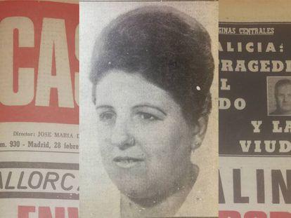 Catalina Domingo, en la portada del periódico 'El Caso'.
