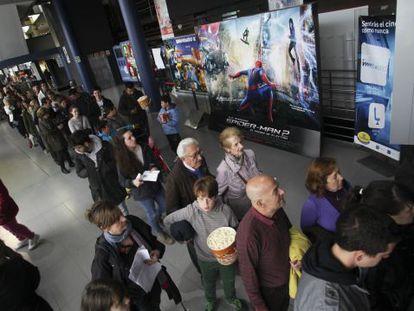 Los cines madrileños Cinesa, el pasado marzo durante la Fiesta del Cine.