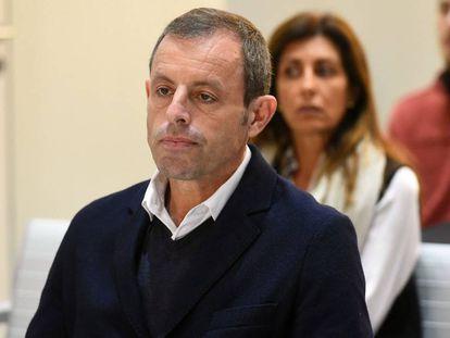 El expresidente del FC Barcelona Sandro Rosell, juzgado en la Audiencia Nacional.