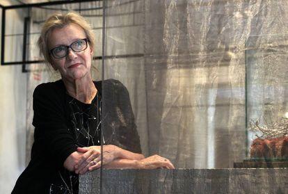 La escritora estadounidense Elizabeth Strout, en Madrid.
