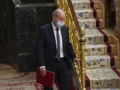 El ministro de Justicia, Juan Carlos Campo, en el pleno del Congreso el pasado 20 de mayo.