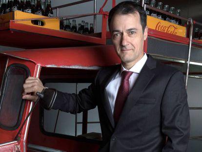 Juan Ignacio Elizande, director general de Coca Cola Iberia en su sede de Madrid.