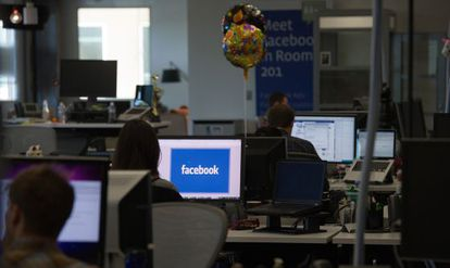 Las oficinas de Facebook en su campus de Menlo Park.